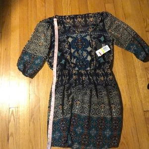 3/4 Sleeve Pattern Dress